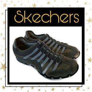 Skechers Suede Leather Slip-On Sneakers 8